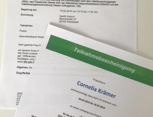 Neue Hygieneverordnung in Hessen & Praxisbegehung